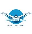 Swimming Team Logo vector image