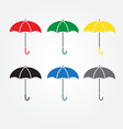 Umbrella color set vector image