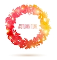 Watercolor painted autumn leaves vector image