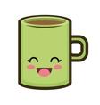 kawaii cartoon coffee mug vector image