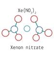 Xenon nitrate XeN2O6 molecule vector image