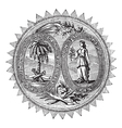 South Carolina Seal engraving vector image
