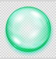 transparent turquoise sphere with shadow vector image