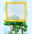 frame design with trees in background vector image