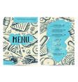 restaurant and cafe food menu design vector image