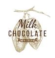 milk chocolate logo template vector image vector image