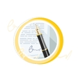 Fountain ink old pen with paper page vector image