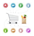 Buying food icons vector image vector image
