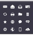 Mail icons set - Simplus series vector image