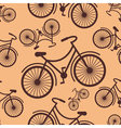 Pattern of retro hipster styled bycicle on a coffe vector image