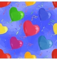 Balloon Hearts Low Poly Pattern vector image vector image