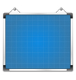 Whiteboard with blueprint vector image vector image