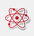 atom sign new year reddish vector image
