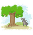 boar oak and corns vector image