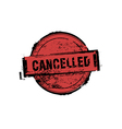 Cancelled stamp badges vector image
