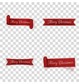 christmas festive red ribbons collection vector image