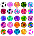 colorful ball set vector image