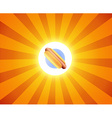 Hot Dog on orange background vector image