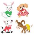 of cartoon animals vector image