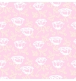 pattern with white hand drawn rose flowers vector image