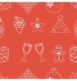 seamless pattern christmas vector image