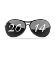 sunglass with 2014 vector image