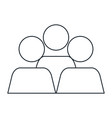 teamwork avatars isolated icon vector image