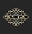 Vintage golden frame in vintage style Calligraphic vector image