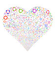 cooperation fireworks heart vector image
