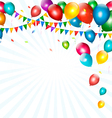 Holiday background with colorful balloons and vector image