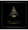 2014 New Year background vector image