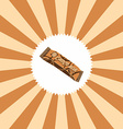 food and drink theme chocolate bar vector image