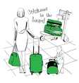 baggage set for airport vector image