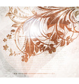 Abstract Vintage Background with Autumn Leaves vector image