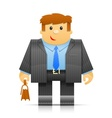 businessman origami toy vector image