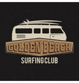 Vintage Surfing club tee design Retro t-shirt vector image