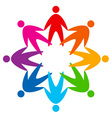 Star of colorful people pictogram vector image