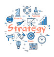 blue round strategy concept vector image