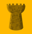 castle tower medieval ancient fortress isolated vector image