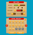 Interface buttons set for games or apps4 vector image