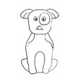 pet dog sitting animal domestic vector image