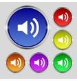 Speaker volume sign icon Sound symbol Set vector image
