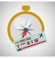 Travel design Trip icon Flat vector image