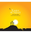 Calvary and crosses against sunset vector image vector image