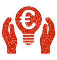 euro patent care icon grunge watermark vector image
