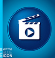 Slate Board symbol of cinema vector image