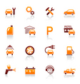 auto service and repair icons vector image vector image