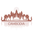 Cambodia Travel Landmarks vector image