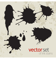 Ink stains set 3 vector image vector image