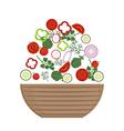 Plate of fresh salad vector image